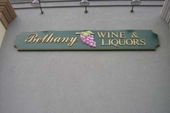Curved Sign for Bethany Wine in NJ