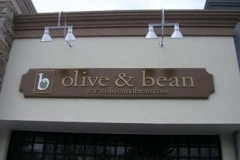 Curved Sign for Olive and Bean in NJ