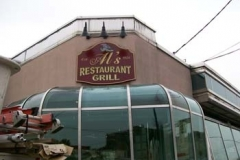 Curved Sign for JH's Restaurant in NJ
