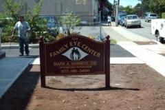 Curved Sign for Family Eye Center in NJ