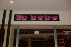 Channel Letters for 2b bebe in NJ