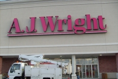 Channel Letters for AJ Wright in NJ