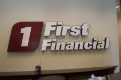 Channel Letters for First Financial 1 in NJ