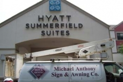 Dimensional Letters for Hyatt Summerfield Suites in NJ