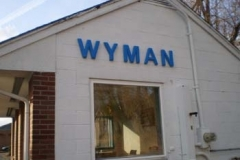 Dimensional Letters for Wyman in NJ