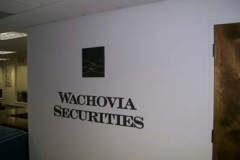 Custom Sign for Wachovia in NJ