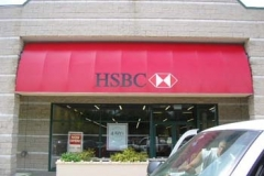 Fabric Awnings for HSBC in NJ