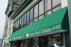 Fabric Awnings for Crown Fried Chicken in NJ