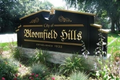 Monument Sign for Bloomfield Hills in NJ