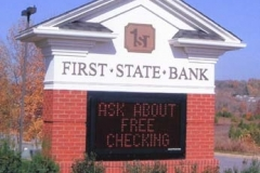 Monument Sign for First State Bank in NJ