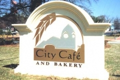 Monument Sign for City Cafe in NJ