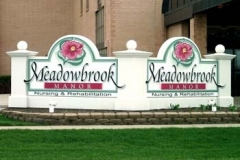 Monument Sign for Meadowbrook in NJ