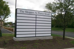 Monument Sign for Shops at Pierce in NJ