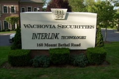 Monument Sign for Wachovia in NJ